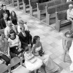 Kirche, Brautpaar, Kuss, Dohnenaufnahme