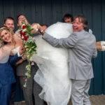 Braut wird gefeiert