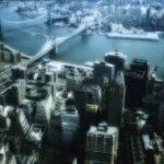 Luftaufnahme New York, Brooklyn Bridge, Hudson River